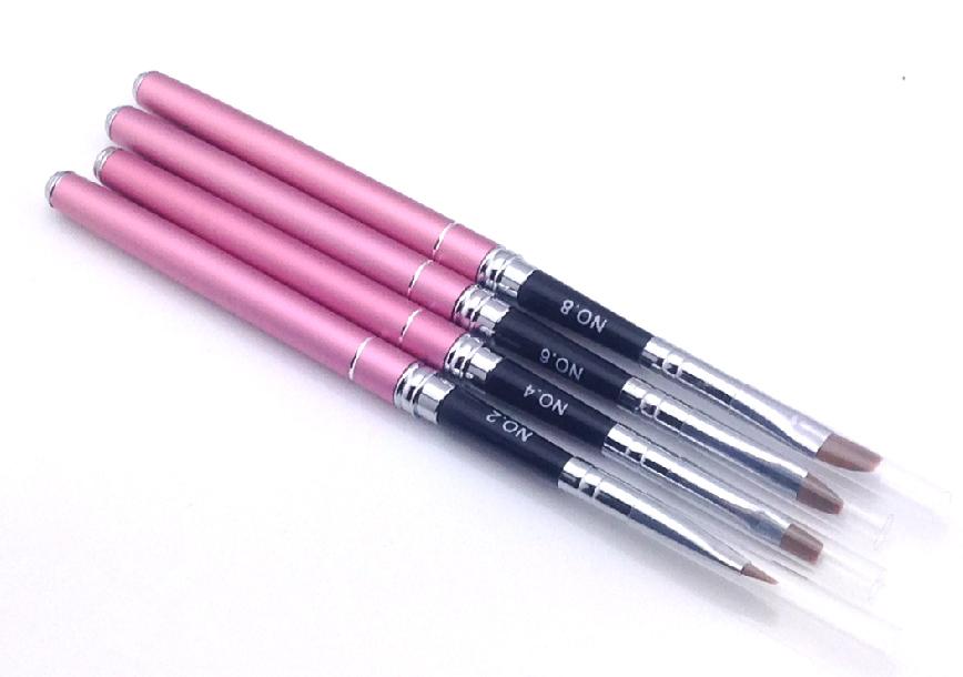 Fém zselé ecset lapos -G2 pink