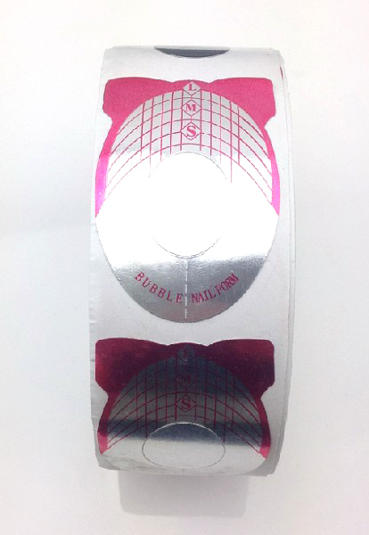 Műköröm sablon 500 db Pink-1