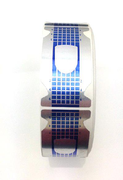 Műköröm Sablon 500db kék-6