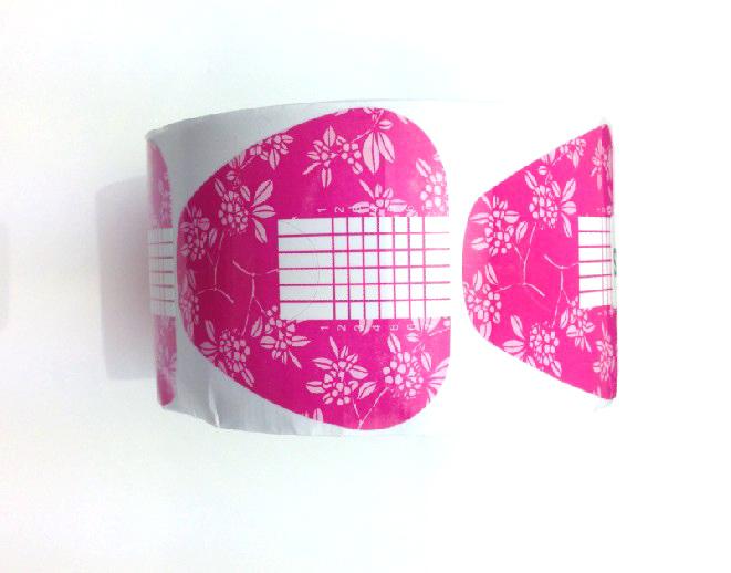 Műköröm Sablon 500db pink-8