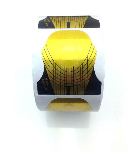 Műköröm Sablon 500db arany-11