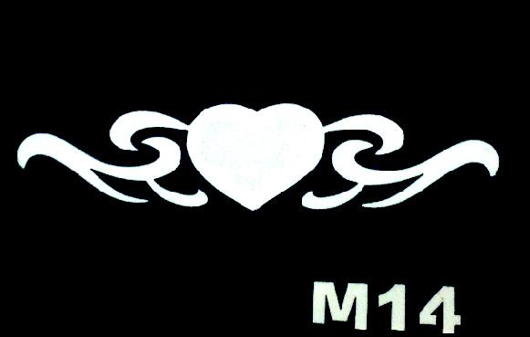 Csillám tetováló sablon 5x8cm TS-M14
