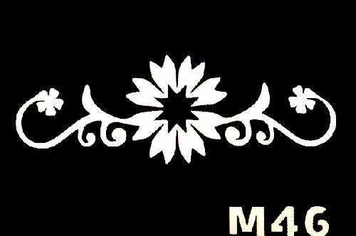 Csillám tetováló sablon 5x8cm TS-M46