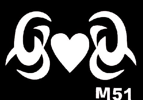 Csillám tetováló sablon 5x8cm TS-M51