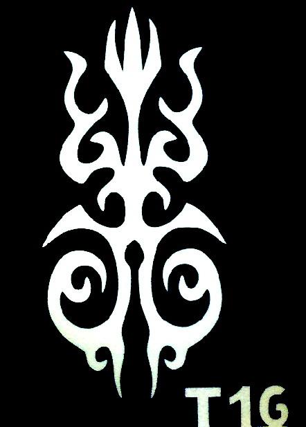 Csillám tetováló sablon 5x8cm TS-T16