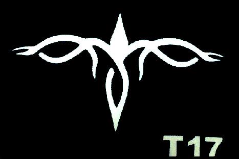 Csillám tetováló sablon 5x8cm TS-T17
