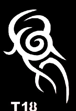 Csillám tetováló sablon 5x8cm TS-T18
