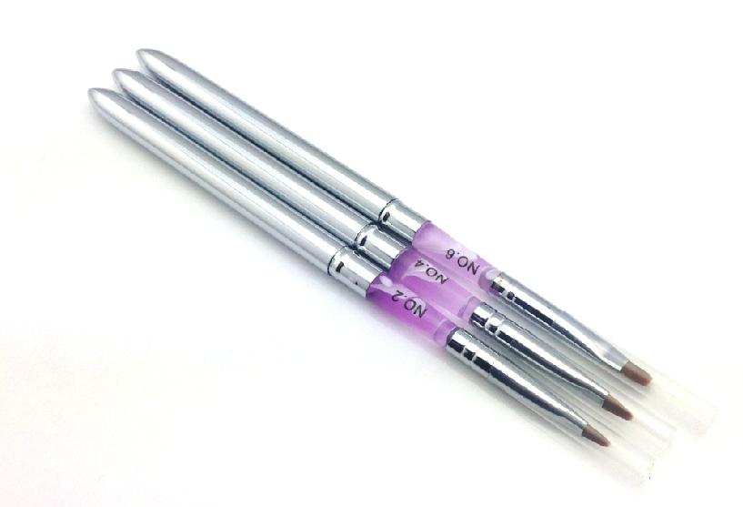 Fém zselé ecset lapos -G4 lila