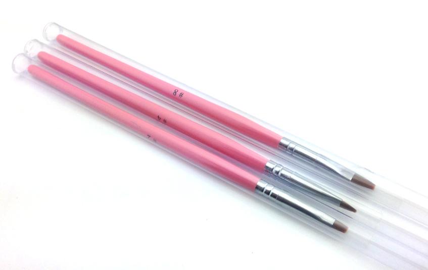 Zselé ecset lapos G6-Pink