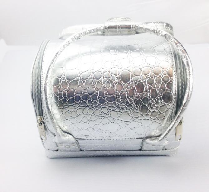 Mini Kozmetikai táska-Ezüst
