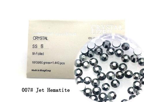 Strasszkő SS8-1440db-007 Jet Hematite