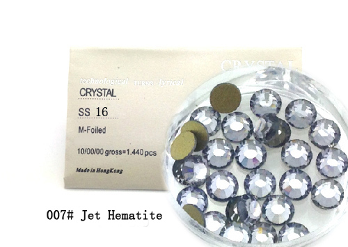 Strasszkő SS16-1440db-007 Jet Hematite