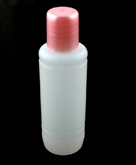 Műanyag folyadék flakon 100ml(flakon +kupak + belső  szűkítő)-006