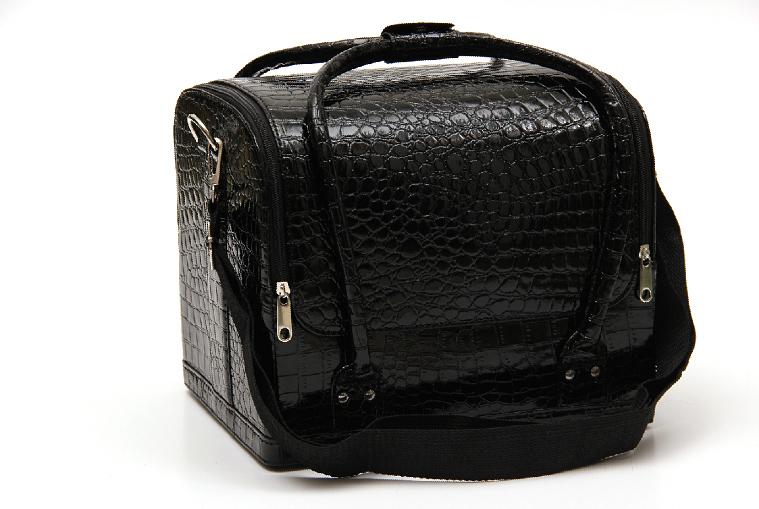 Kozmetikai táska 2-fényes fekete