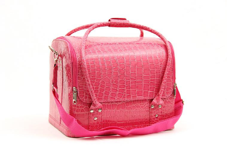 Kozmetikai táska 4-Fényes rózsaszín