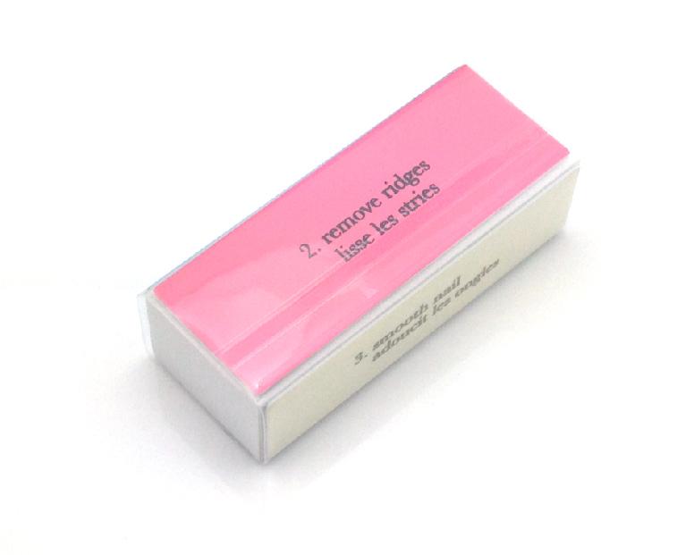 Polírozó négyoldalú  fehér/pink