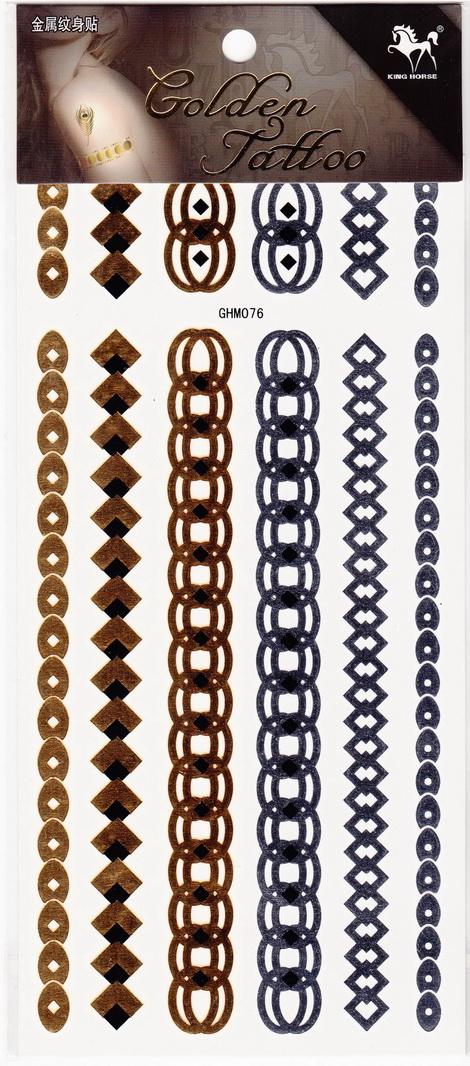 Metál tetoválás matrica 11cmX21cm  GHM76
