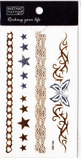 Metál tetoválás matrica 6.5cmX11cm  VH302