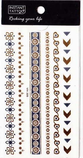 Metál tetoválás matrica 6.5cmX11cm  VH309