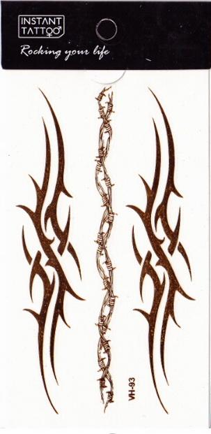 Metál tetoválás matrica 6.5cmX11cm  VH93