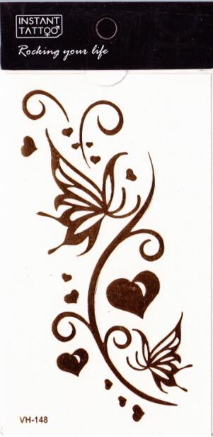 Metál tetoválás matrica 6.5cmX11cm  VH148