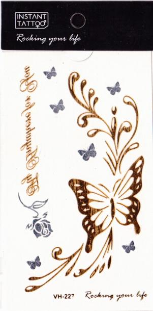 Metál tetoválás matrica 6.5cmX11cm  VH227