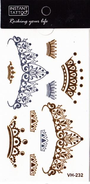 Metál tetoválás matrica 6.5cmX11cm  VH232