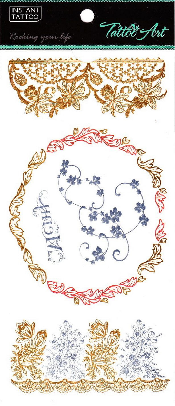Metál tetoválás matrica 11cmX21cm  V4648