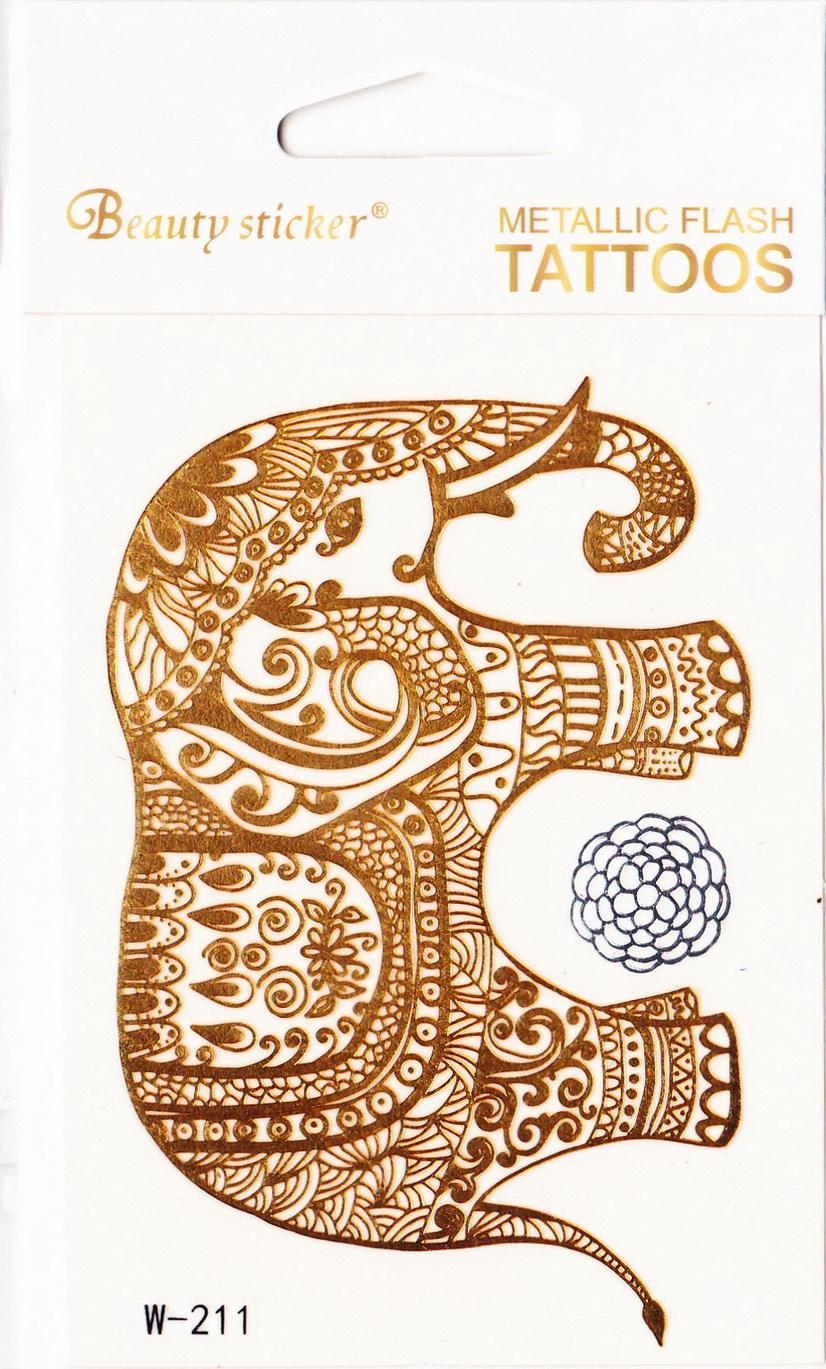 Metál tetoválás matrica 72mmX102mm W-211