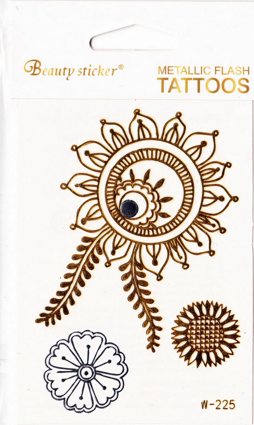 Metál tetoválás matrica 72mmX102mm W-225
