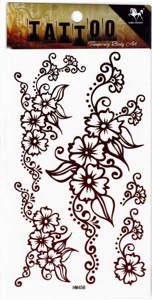 Henna tetoválás matrica 10cmX17cm HM458