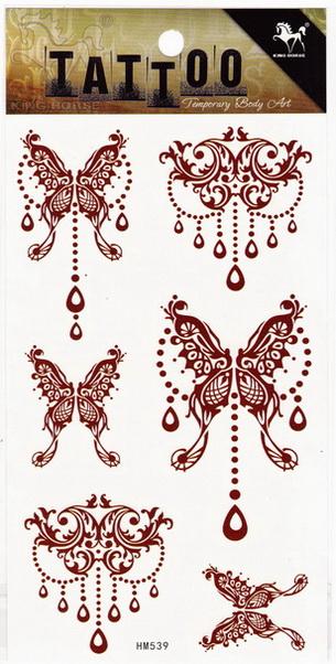 Henna tetoválás matrica 10cmX17cm HM539