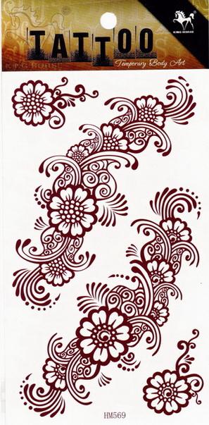 Henna tetoválás matrica 10cmX17cm HM569