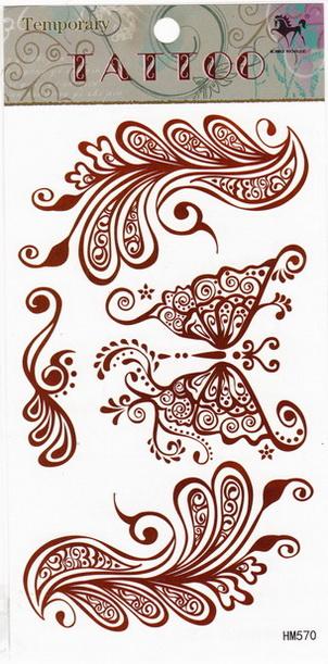 Henna tetoválás matrica 10cmX17cm HM570