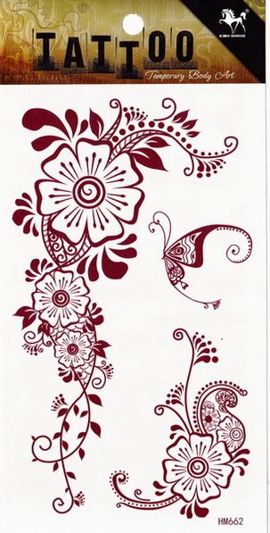Henna tetoválás matrica 10cmX17cm HM662