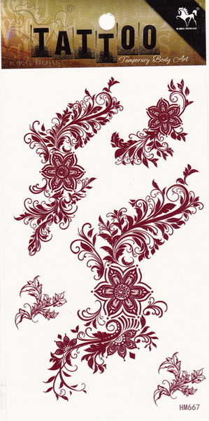 Henna tetoválás matrica 10cmX17cm HM667