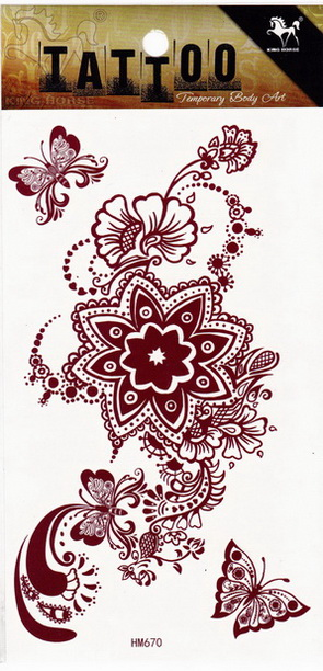 Henna tetoválás matrica 10cmX17cm HM670