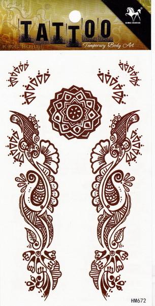 Henna tetoválás matrica 10cmX17cm HM672
