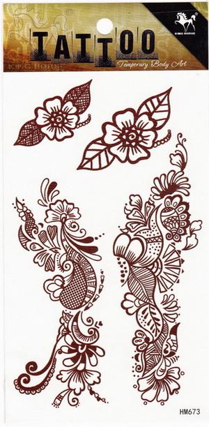 Henna tetoválás matrica 10cmX17cm HM673