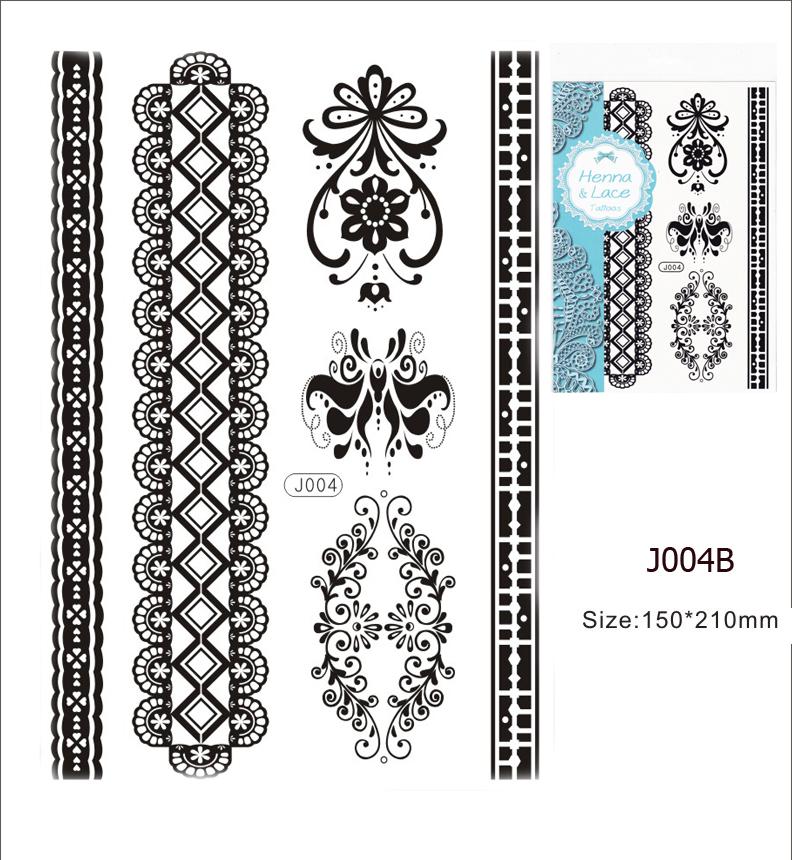 Henna tetoválás matrica 15cmX21cm J004B