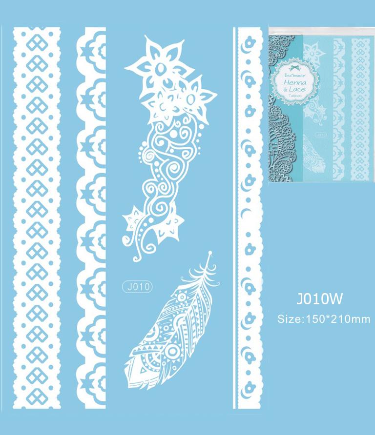 Henna tetoválás matrica 15cmX21cm J010W