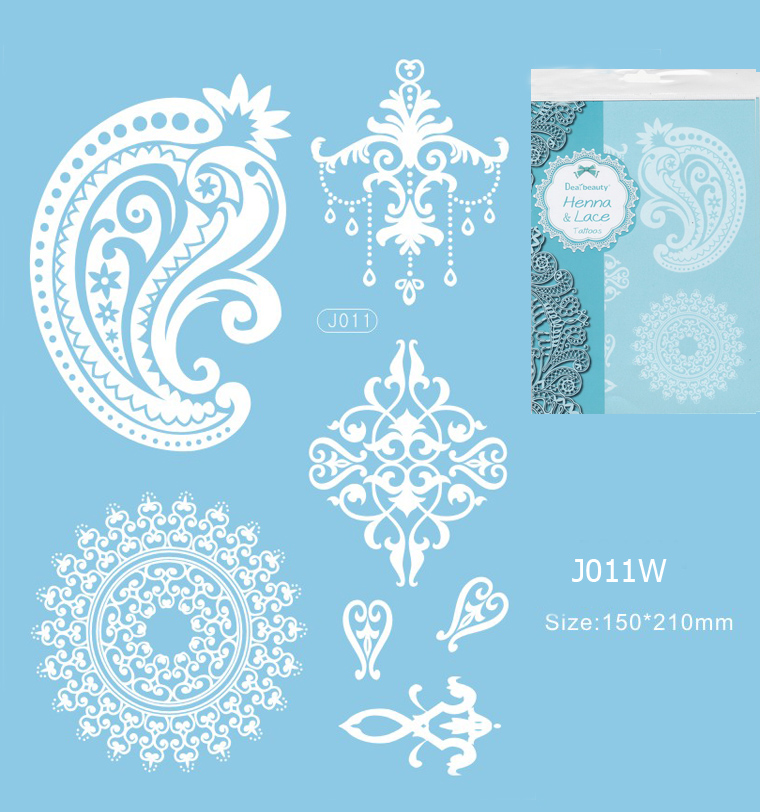 Henna tetoválás matrica 15cmX21cm J011W