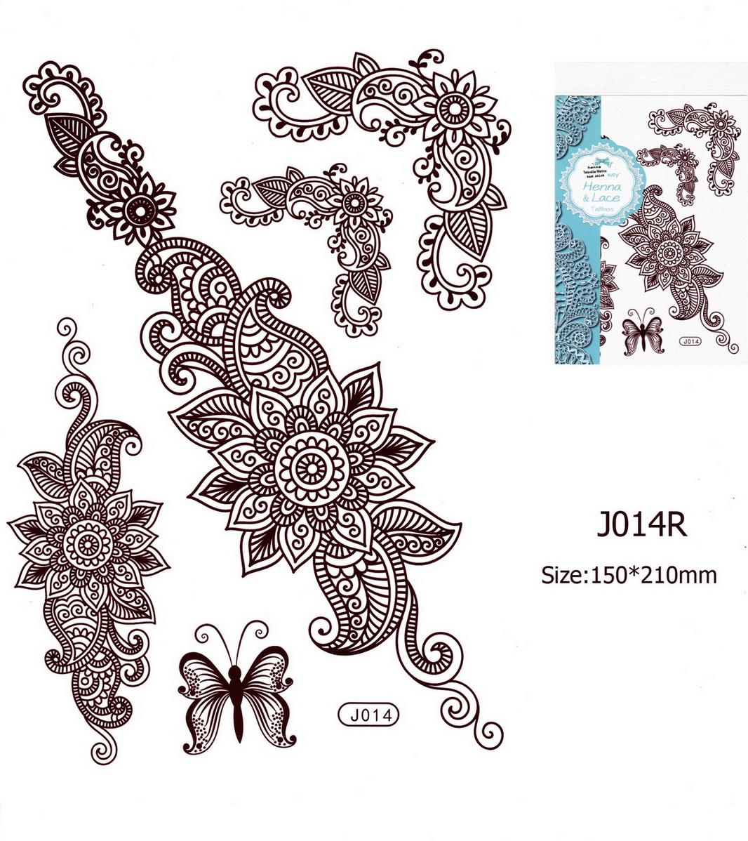 Henna tetoválás matrica 15cmX21cm J014R