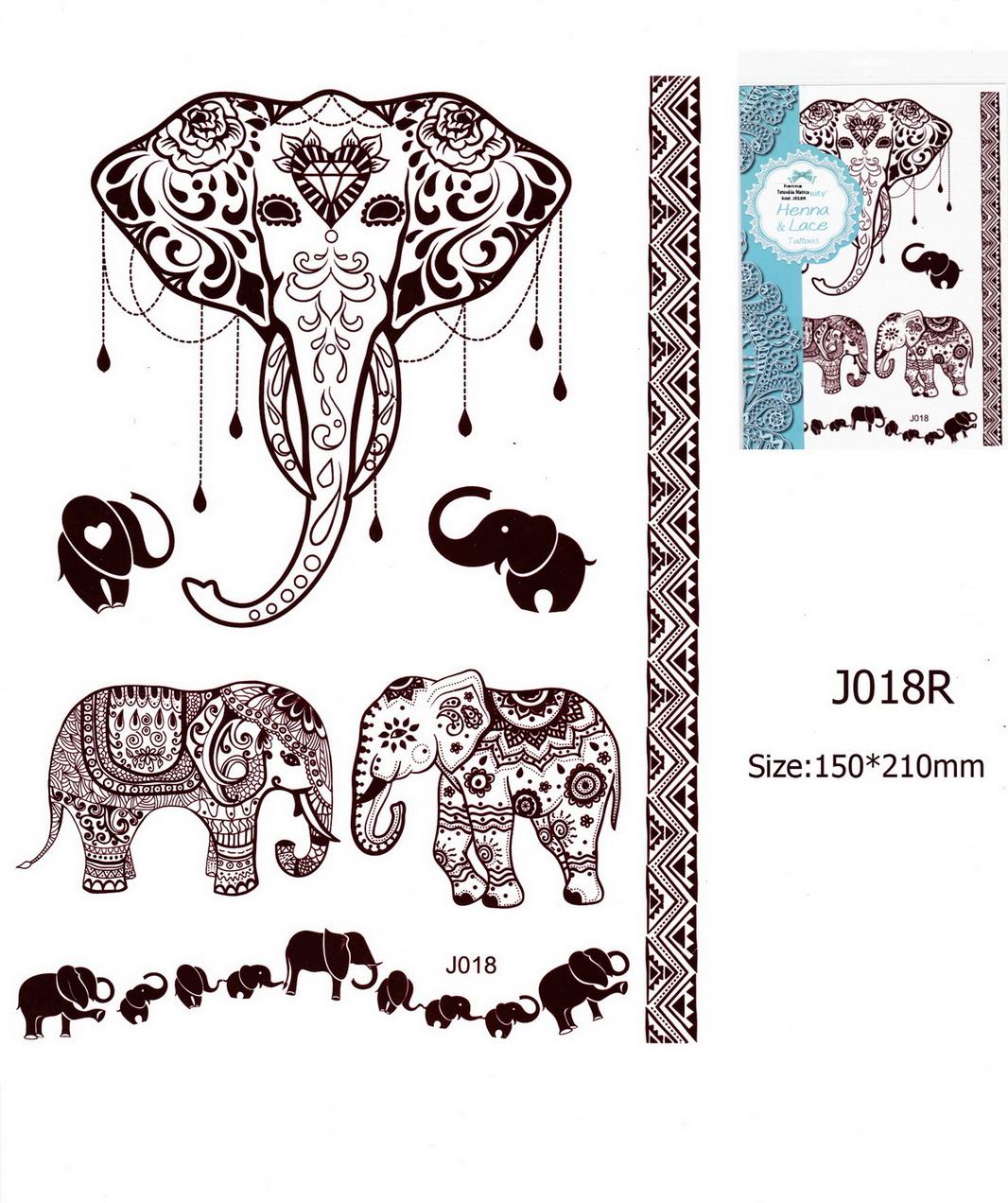 Henna tetoválás matrica 15cmX21cm J018R
