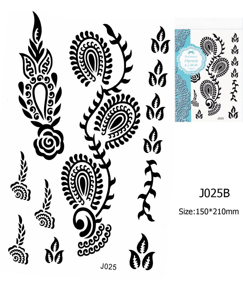 Henna tetoválás matrica 15cmX21cm J025B