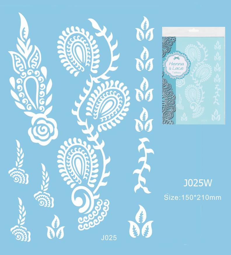 Henna tetoválás matrica 15cmX21cm J025W