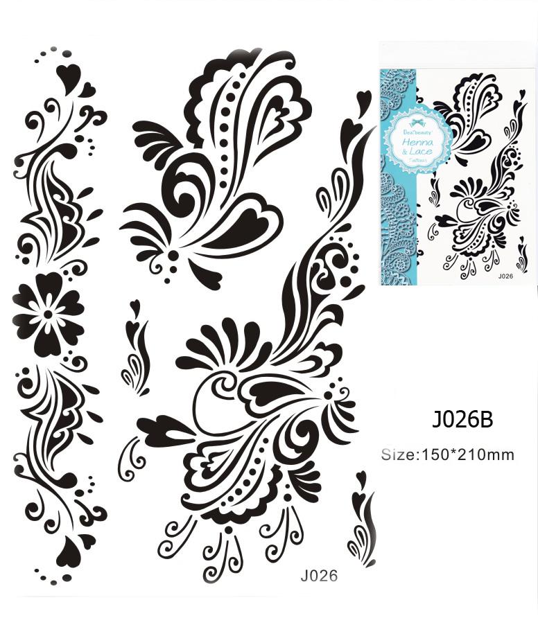 Henna tetoválás matrica 15cmX21cm J026B