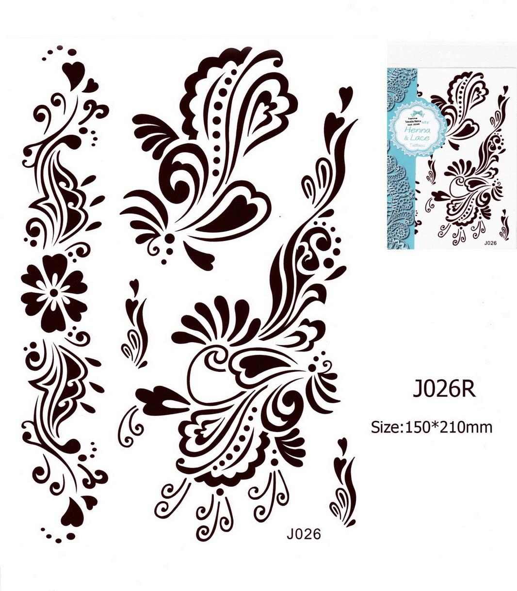 Henna tetoválás matrica 15cmX21cm J026R