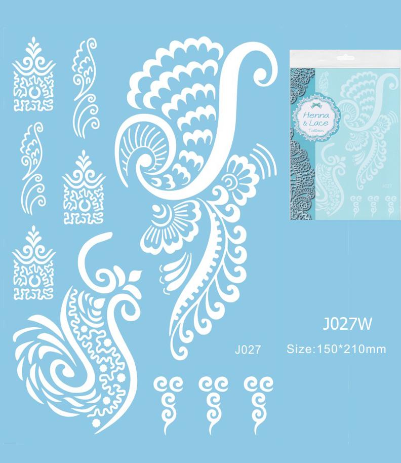 Henna tetoválás matrica 15cmX21cm J027W