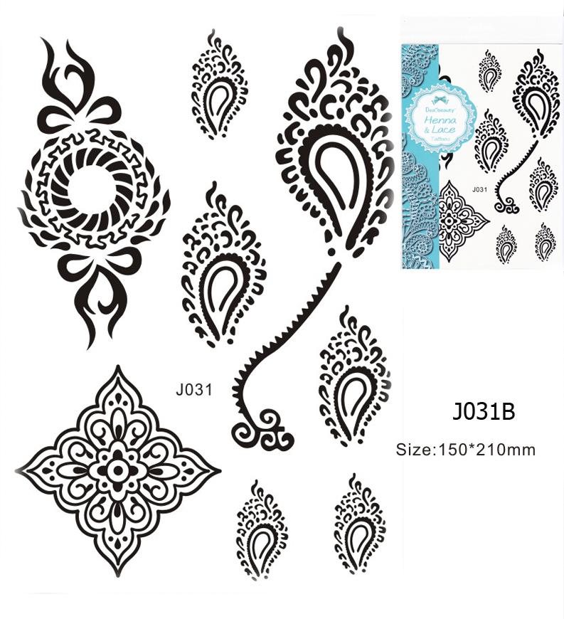 Henna tetoválás matrica 15cmX21cm J031B